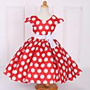 זול שמלות לבנות-שמלה שרוולים קצרים מנוקד פפיון בנות פעוטות / כותנה
