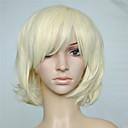 preiswerte Schmuckset-Synthetische Perücken Locken / Wellen Blond Mit Pony Synthetische Haare Mit Pony Blond Perücke Damen Kappenlos
