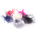 cheap Party Headpieces-Tulle / Feather / Net Fascinators / Flowers with 1 Wedding / Special Occasion Headpiece