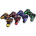 זול אביזרי PS3-אלחוטית כפולה הלם שישה ציר בקר Bluetooth עבור PS3 (multicolor)