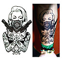 billige Midlertidige tatoveringer-1 pcs Tatoveringsklistremerker midlertidige Tatoveringer Romantisk serie / Tegneserie-serien Til engangsbruk kropps~~POS=TRUNC arm / Bein / Tattoo-klistremerke