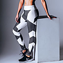 abordables Luces de Techo-Mujer Retazos Pantalones de yoga Deportes Geométrico, Sexy, Moda Licra Pantalones / Sobrepantalón Pilates, Ejercicio y Fitness, Running