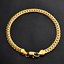 cheap Bracelets-Women's Figaro Chain / Chunky Chain Bracelet - Platinum Plated, Gold Plated Classic, Fashion Bracelet Silver / Golden For Christmas Gifts / Wedding / Party