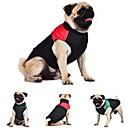 hesapli Köpek Giyimi-Kedi Köpek Paltolar Vesta Köpek Giyimi Zıt Renkli Kırmzı Yeşil Mavi Pamuk Kostüm Evcil hayvanlar için Erkek Kadın's Sıcak Tutma