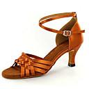 abordables Zapatos de Baile Latino-Mujer Latino Jazz Zapatos de Swing Salsa Satén Sandalia Tacones Alto Interior Rendimiento Profesional Principiante Entrenamiento