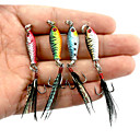 cheap Fishing Lures & Flies-4 pcs Metal Bait / Jigs / Fishing Lures Jigs / Metal Bait Lead / Metal Sea Fishing / Bait Casting / Spinning / Jigging Fishing / Freshwater Fishing / Bass Fishing / Lure Fishing / General Fishing