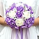 """baratos Bouquets de Noiva-Bouquets de Noiva Buquês / Decoração de Casamento Original Ocasião Especial / Festa / Noite Miçangas / Strass / Espuma 9.84""""(Aprox.25cm)"""