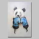 abordables Peintures Abstraites-Peint à la main Animal POP Verticale,Moderne Style européen Un Panneau Toile Peinture à l'huile Hang-peint For Décoration d'intérieur