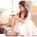 baratos Cadeados de Segredo Numérico-Menina de Vestido Sólido Floral Verão Algodão Sem Manga Floral De Renda Branco Rosa