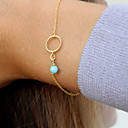 cheap Bracelets-Women's Turquoise Chain Bracelet - Turquoise Twist Circle Bohemian, Movie Jewelry Bracelet Gold / Silver For Wedding Party Birthday / Engagement