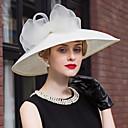 baratos Acessórios de Cabelo-Chapéus de renda de linho Chapéu de noivado de casamento elegante estilo feminino clássico