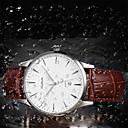 baratos Relógios da Moda-Homens Relógio de Moda Couro Legitimo Banda Amuleto Preta / Marrom