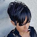 tanie Bez czepka-Peruki bez czepka z naturalnych włosów Włosy naturalne Prosto / Klasyczny Tkany maszynowo Peruka Codzienny / Prosta