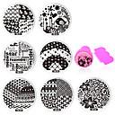 cheap Nail Stamping-11 pcs Stamping Plate / Nail Jewelry Flower / Fashion Daily Nail Art Design / Metal
