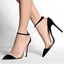 preiswerte Damen Stiefel-Damen Schuhe PU Frühling / Sommer Komfort High Heels Walking Stöckelabsatz Spitze Zehe Schwarz / Party & Festivität / Kleid