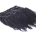 abordables Extensiones de Color Degradé-Con Clip Extensiones de cabello humano Afro / Kinky Curly Cabello humano Cabello Brasileño