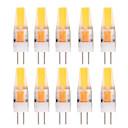 olcso Bajonettzáras LED lámpák-YWXLIGHT® 10pcs 2 W 150-200 lm G4 LED betűzős izzók T 1 led COB Dekoratív Meleg fehér Hideg fehér AC 12V DC 12-24 V