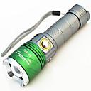 hesapli Fenerler-500 lm Siyah Işıklı Fenerler - / LED 4.0 Kip Zoomable / Su Geçirmez / Ayarlanabilir Fokus