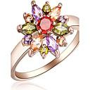 olcso Divatos gyűrű-Női Gyűrű - Rose Gold, Cirkonium, Ötvözet Virág 6 / 7 / 8 Fehér / Rózsa Kompatibilitás Parti Különleges alkalom Napi
