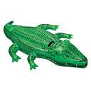 baratos Brinquedo de Banho-Crocodilo Boias de piscina infláveis Espreguiçadeiras de piscina PVC Crianças Adulto