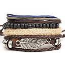 cheap Men's Bracelets-Men's Women's Wrap Bracelet - Leather Wings Vintage, Punk Bracelet Silver For Party