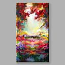 ieftine Deschizătoare de Vin-Hang-pictate pictură în ulei Pictat manual - Peisaj Modern Includeți cadru interior / Stretched Canvas