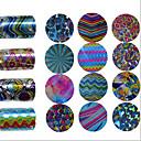billige Folie af papir-1pcs 3D Negle Stickers Negle kunst Manicure Pedicure Mode Daglig / 3D Nail Stickers