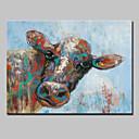 baratos Pinturas a Óleo-Pintura a Óleo Pintados à mão - Arte Pop Modern / Estilo Europeu Incluir moldura interna
