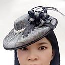 baratos Acessórios de Cabelo-Tule / Imitação de Pérola / Rede Fascinadores / Chapéus com 1 Casamento / Ocasião Especial / Casual Capacete
