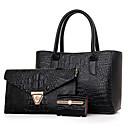 preiswerte Modische Armbänder-Damen Taschen PU Bag Set 3 Stück Geldbörse Set Niete Solide Gold / Schwarz / Rote