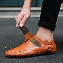 abordables Zapatillas sin Cordones y Mocasines de Hombre-Hombre Cuero de Napa Primavera / Verano / Otoño Casual / Confort Zapatos de taco bajo y Slip-On Paseo Negro / Marrón