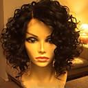 billige Blondeparykker af menneskehår-Menneskehår Halvblonder uden lim / Blonde Front Paryk Bølget Paryk 130% Natural Hairline / Afro-amerikansk paryk / 100 % håndbundet Dame Kort / Medium / Lang Blondeparykker af menneskehår
