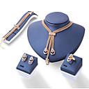 preiswerte Backformen-Damen Synthetischer Diamant Schmuck-Set - Euramerican Einschließen Gold Für Alltag
