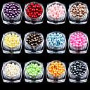 cheap Nail Glitter-12 pcs Pearls Lovely nail art Manicure Pedicure Daily Glitters / Fashion