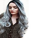 abordables Pelucas Sintéticas-Pelucas sintéticas Recto Pelo sintético Pelo Ombre Negro Peluca Mujer Larga Sin Tapa