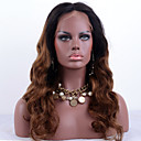 cheap Headsets & Headphones-Remy Human Hair Full Lace Wig Loose Wave Wig 130% Ombre Hair / Natural Hairline / African American Wig Ombre Women's Short / Medium Length / Long Human Hair Lace Wig / 100% Hand Tied