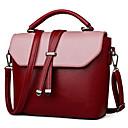 hesapli Omuz Çantaları-Kadın's Çantalar PU Omuz çantası için Dış mekan İlkbahar yaz Siyah / YAKUT