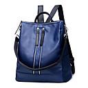 رخيصةأون صواني الخبز-للمرأة أكياس PU حقيبة ظهر برشام سادة أزرق / أسود / أحمر