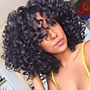 cheap Human Hair Capless Wigs-Synthetic Wig Curly / Afro Layered Haircut Synthetic Hair African American Wig / For Black Women Black Wig Women's Medium Length / Long Capless
