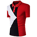 cheap Wallets-Men's Active Cotton Slim Polo - Color Block Patchwork Shirt Collar / Short Sleeve