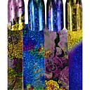 baratos Papel Alumínio para Unhas-4pcs/set Adesivos Adesivo de folha arte de unha Manicure e pedicure Design Moderno / Espumante Com Gliter / Decalques de unha Diário / Casual