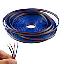 cheap Bakeware-4 Color 20m RGB Extension Cable Line for LED Strip RGB 5050 3528 Cord 4pin