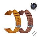 baratos Smartwatch Acessórios-Pulseiras de Relógio para Gear S3 Frontier Gear S3 Classic Samsung Galaxy Pulseira Esportiva Fecho Clássico Couro Tira de Pulso