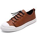 voordelige Herensneakers-Heren Schoenen Imitatieleer Lente / Herfst Comfortabel Sneakers Zwart / Grijs / Donker Bruin