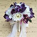 "baratos Bouquets de Noiva-Bouquets de Noiva Buquês Casamento Festa / Noite Cetim 9.84""(Aprox.25cm)"