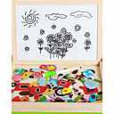 cheap 3D Puzzles-Drawing Toy Drawing Tablet 3D Puzzles Jigsaw Puzzle Toys Toys Magnetic DIY Wood Kid's Children's Pieces
