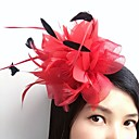 cheap Party Headpieces-Feather / Net Fascinators / Flowers / Headwear with Floral 1pc Wedding / Special Occasion / Casual Headpiece / Hair Clip