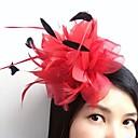 baratos Bolsas de Ombro-Pena / Rede Fascinadores / Flores / Decoração de Cabelo com Floral 1pç Casamento / Ocasião Especial / Casual Capacete / Presilha de cabelo