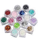 cheap Rhinestone & Decorations-17box nail jewelry sequins mixed size manicure colorful sequins