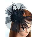 baratos Conjuntos de Pincéis de Maquiagem-Pena / Rede Headbands / Fascinadores / Flores com Floral 1pç Casamento / Ocasião Especial Capacete
